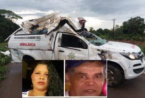 Pai e filha morrem em acidente com ambulância de Machadinho na BR 364
