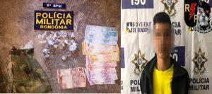 Jovem de 19 anos é preso por tráfico de drogas em Jaru, RO