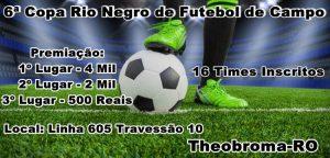 Santa Cruz e Rio Negro são os primeiros classificados para semifinal 6ª Copa Rio Negro de Futebol