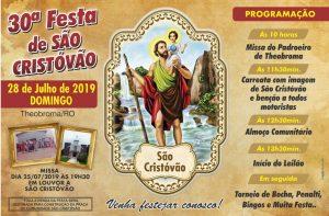Vem aí 30ª Festa de São Cristóvão de Theobroma