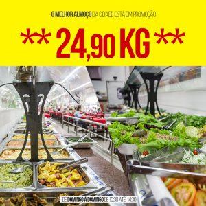 Almoço apenas R$ 24,90 Kg a partir desta Terça no restaurante do Taí Max em Jaru!