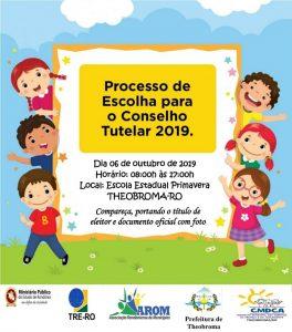 CMDCA de Theobroma divulga condutas vedadas aos candidatos no Processo de Escolha