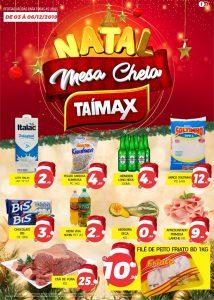 Promoção Natal Mesa Cheia no Supermercado Taí max em Jaru, RO