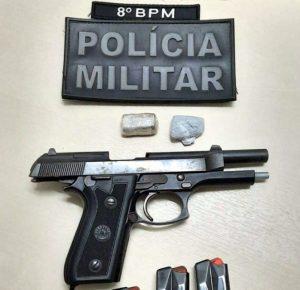 Ação conjunta da PM, NI e PATAMO resulta em apreensão de pistola 9mm em Jaru
