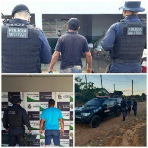 Polícia Militar prende três foragidos da justiça em Jaru