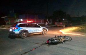 Acidente de trânsito deixa condutor de motocicleta ferido em machadinho do Oeste