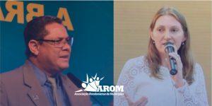 Claudio Santos renuncia e Lebrinha assume presidência da AROM; em cerimônia de posse, nova líder enfatiza desafios do municipalismo