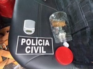 VALE DO ANARI: Policia Civil com apoio da PM prende casal acusado de tráfico de drogas