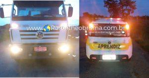 Theobroma: Caminhão colide na traseira de carro de auto escola