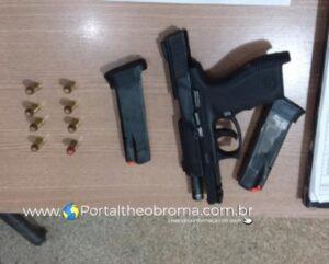 Foragido que trocou tiros com policiais penais em Ariquemes é preso com pistola .40 em Machadinho D'Oeste