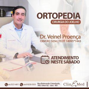 Dr. Veinel Proença ortopedista e cirurgião de joelho atende neste sábado (18), na ClinMed