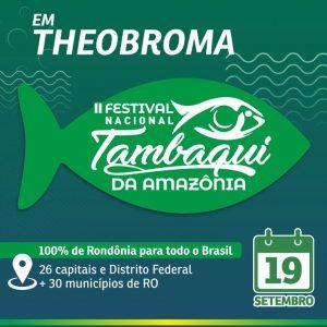 Festival do Tambaqui da Amazônia terá banda de peixe vendida por R$ 20, em Theobroma